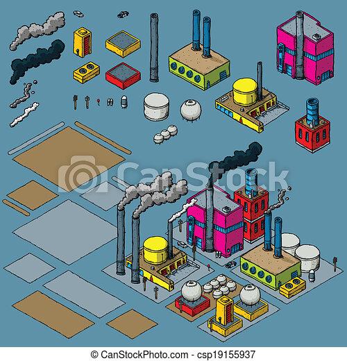 industrie, construction, kit - csp19155937