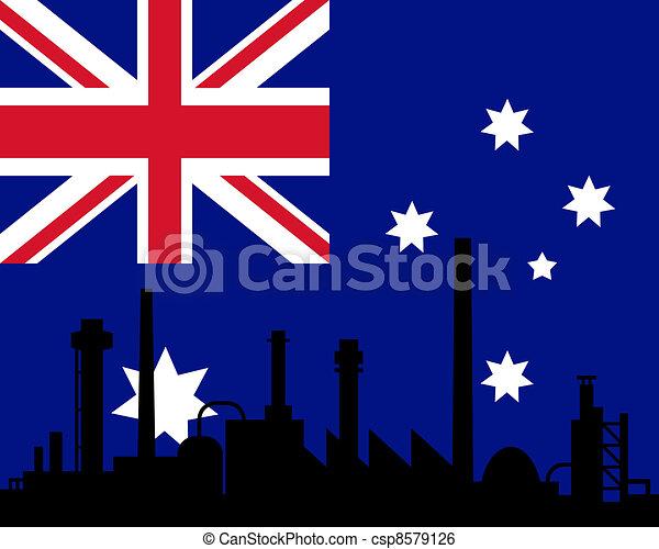 industrie, drapeau australie - csp8579126