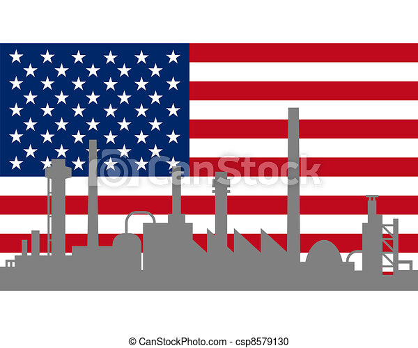 industrie, drapeau, usa - csp8579130