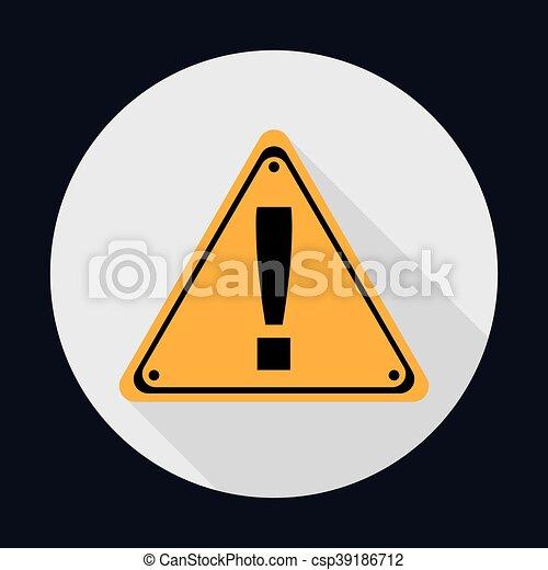 Triangle Road Sign Industrial Security Icon. Vektorgrafik - csp39186712