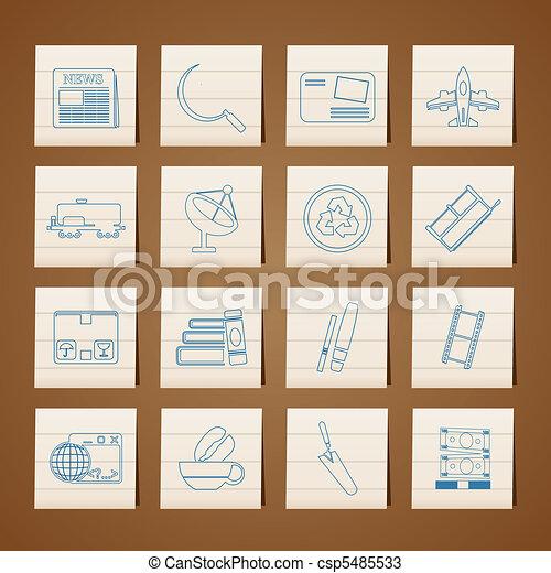 industrie, icones affaires - csp5485533