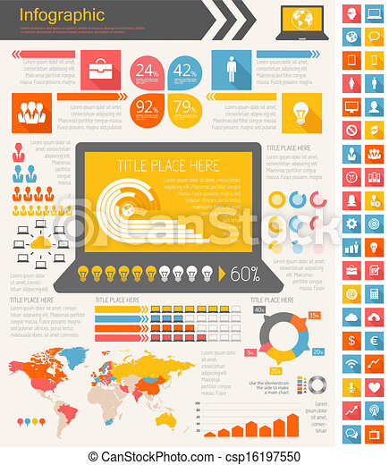 industrie, infographic, il, éléments - csp16197550