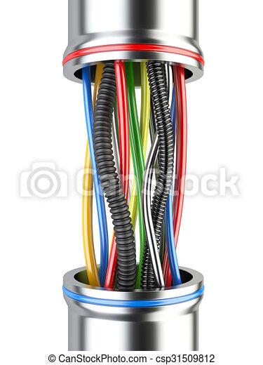 Industrie, mehrfarbig, elektrisch, hintergrund, weißes,... Clipart ...