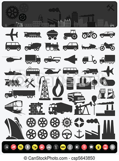 industriebedrijven, icons3 - csp5643850