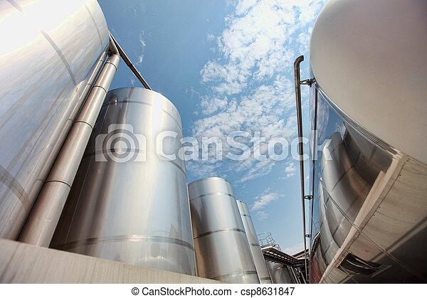 industriebedrijven, -, infrastructuur, silos - csp8631847