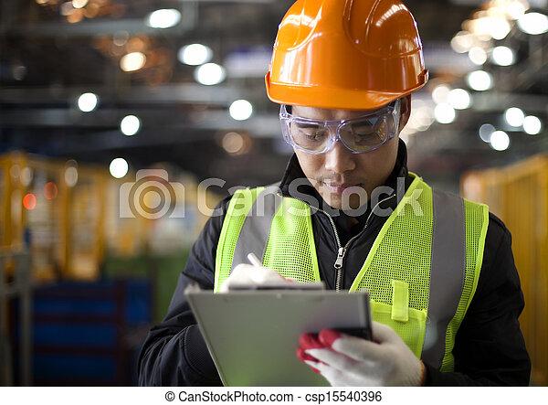 industriebedrijven, ingenieur - csp15540396