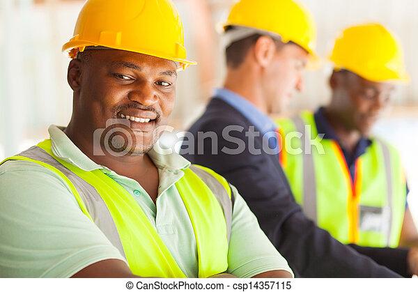 industriel, africaine, ingénieur - csp14357115