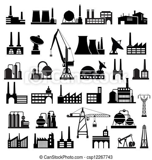 industriel, bâtiments, 2 - csp12267743