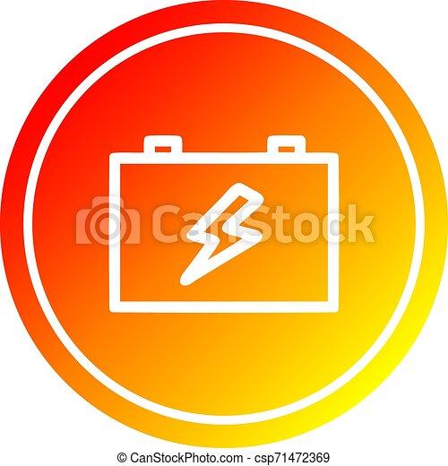 industriel, batterie, spectre, gradient, chaud, circulaire - csp71472369