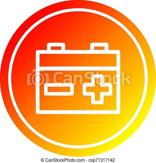 industriel, batterie, spectre, gradient, chaud, circulaire - csp71317142
