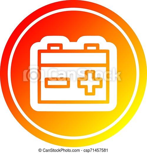 industriel, batterie, spectre, gradient, chaud, circulaire - csp71457581