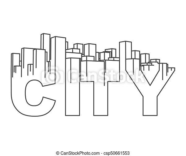 industriel, city., town., résumé, illustration, horizon, vecteur, paysage - csp50661553