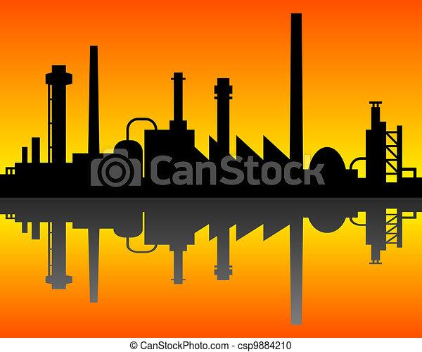 industriel, fond - csp9884210