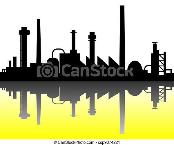 industriel, fond - csp9874221