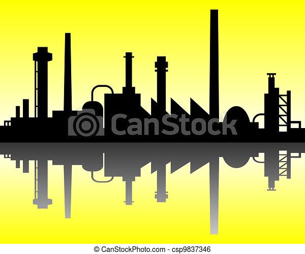 industriel, fond - csp9837346