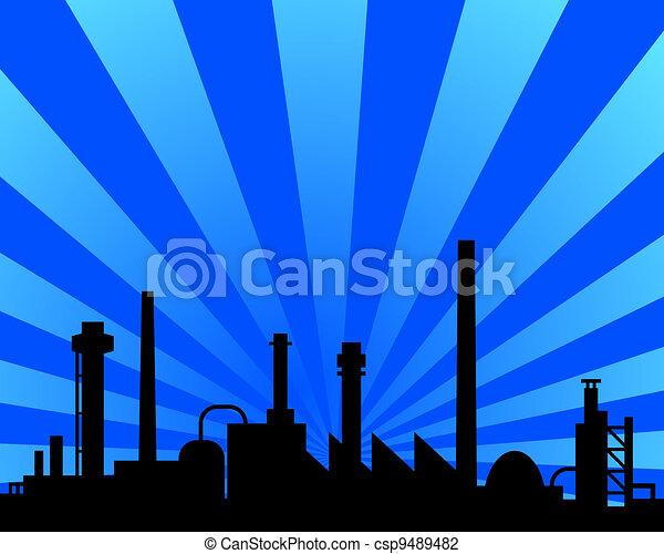industriel, fond - csp9489482