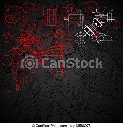 industriel, fond - csp13586076