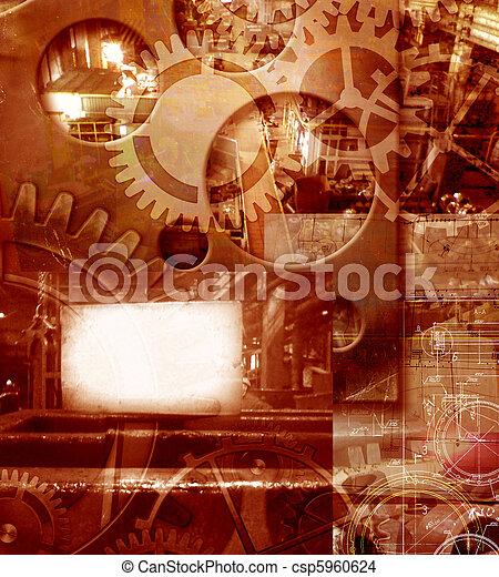 industriel, fond, ingénierie, résumé - csp5960624
