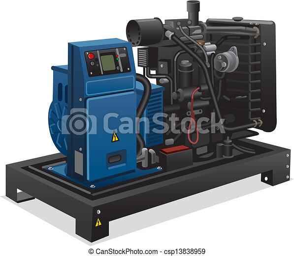 industriel, generator magt - csp13838959