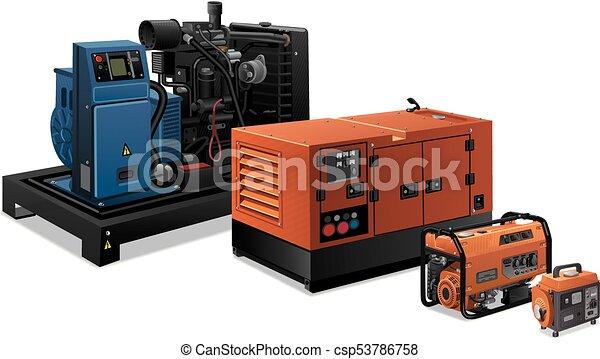 industriel, generatorer, magt - csp53786758