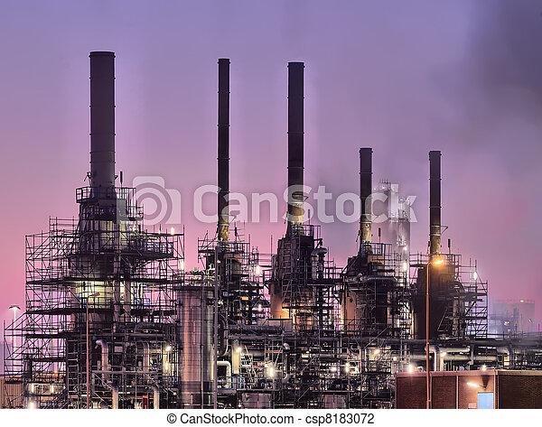 industriel, scène, nuit - csp8183072