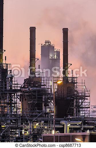 industriel, scène, nuit - csp8687713