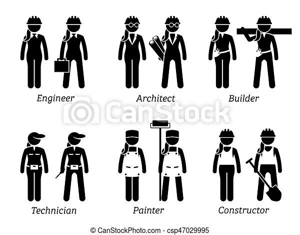 industriel, women., métiers, travaux, travaux, constructions - csp47029995