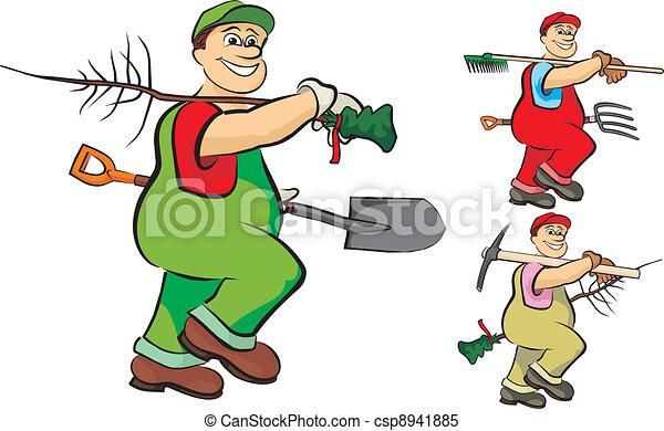 industrioso, jardineiro - csp8941885