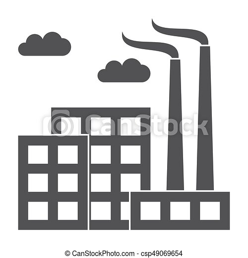 Industry concept with industrial building factory, vector ...