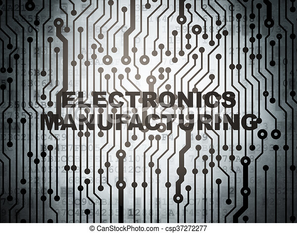 Industry concept: circuit board with Electronics Manufacturing - csp37272277