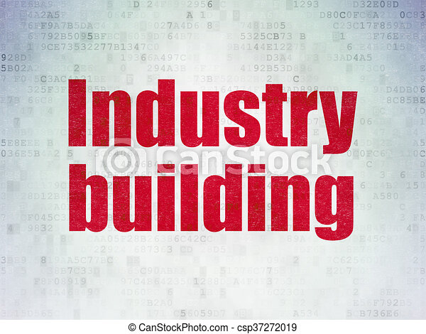 Industry concept: Industry Building on Digital Data Paper background - csp37272019