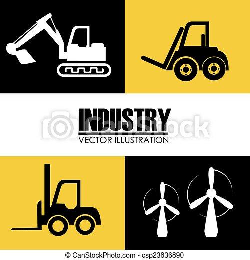 Industry design, vector illustration. - csp23836890