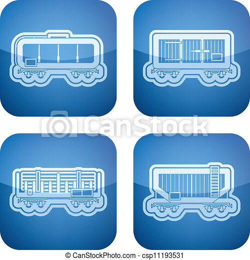 Industry Icons: Railroad transportation - csp11193531