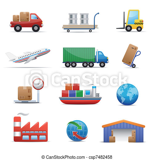 Industry & logistics Icon Set  - csp7482458