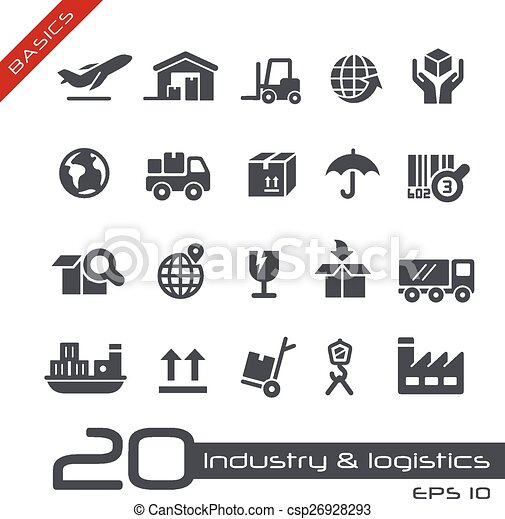 Industry & Logistics Icons - Basics - csp26928293