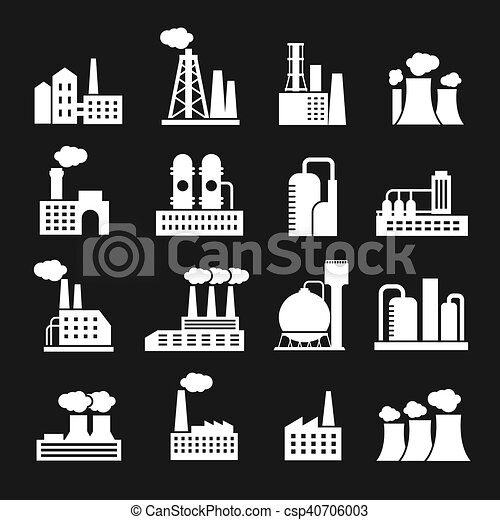 Industrial petrochemical factory template with workers... eps vector ...