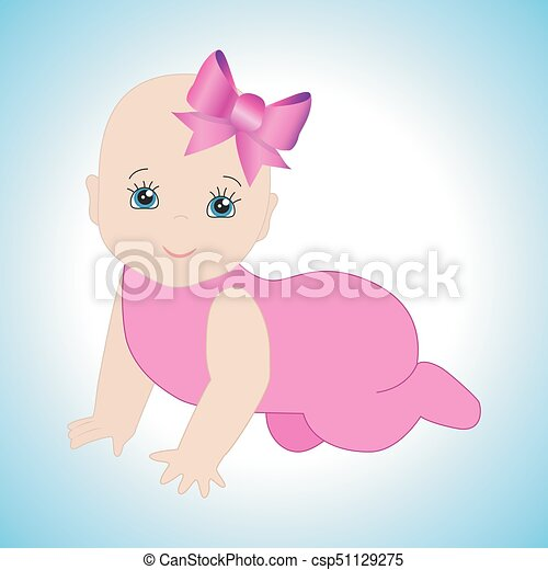 Infant Crawling Girl - csp51129275