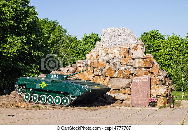 Infantry combat vehicle BMP-2. Memorial - csp14777707