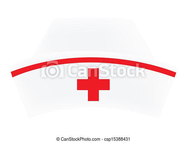 infermiera, berretto - csp15388431