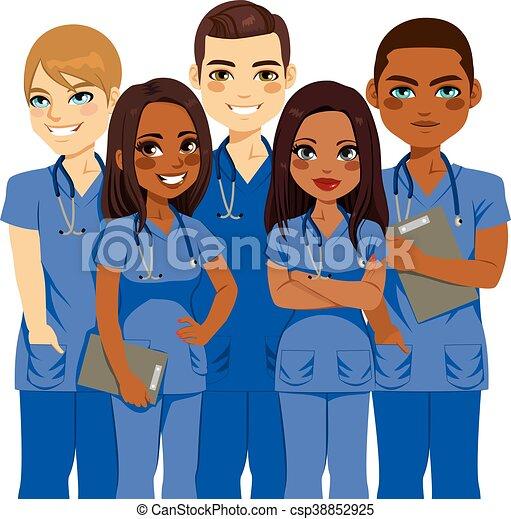 infermiera, diversità, squadra - csp38852925