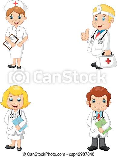 Infermiere cartone animato dottori infermiere vettore - Cartone animato immagini immagini fantasma immagini ...