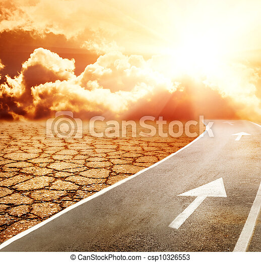 inferno, através, deserto, rodovia - csp10326553