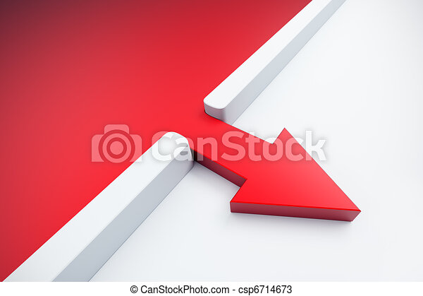infiltration of a red arrow outside - csp6714673