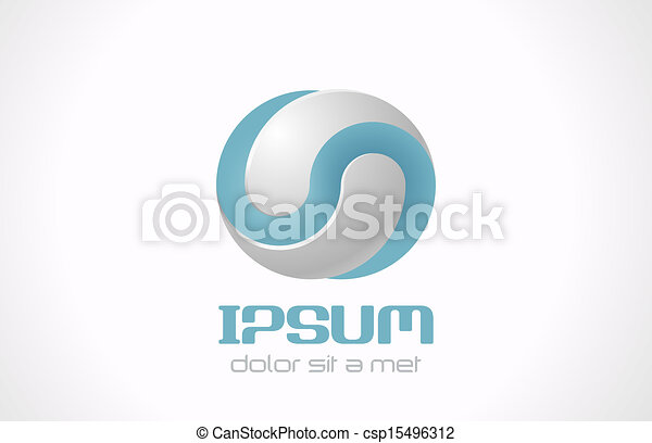Infinite abstract vector logo template for cosmetics, medicine, pharmacy. Technology concept symbol icon. - csp15496312