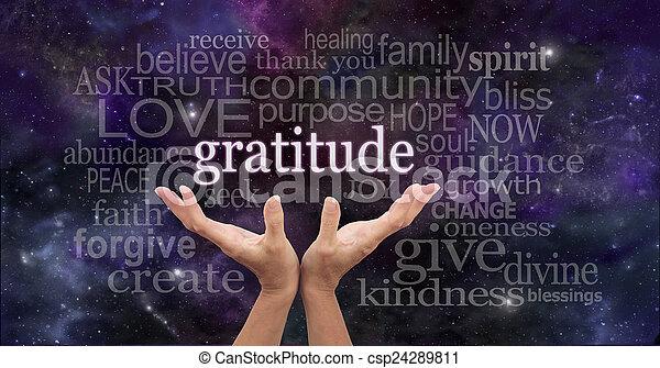Infinite Gratitude - csp24289811