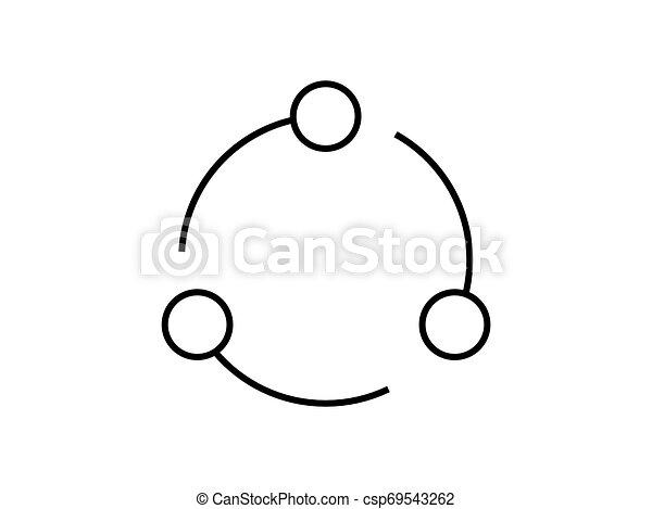 infinite loop circle logo illustration vector on white background. - csp69543262