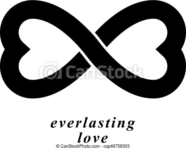 Infinite Love Concept Vector Symbol Created With Infinity border=