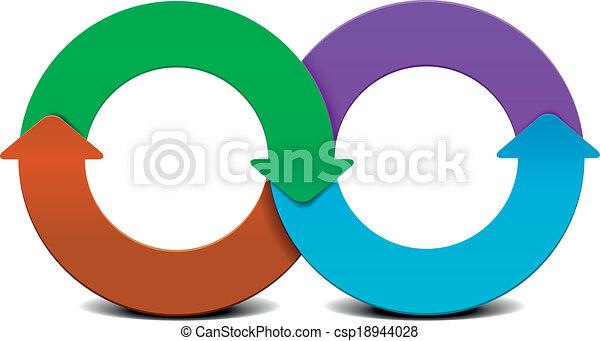 infinity circle infographic - csp18944028