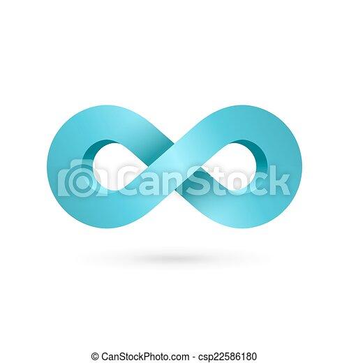 Infinity loop symbol logo icon design template - csp22586180