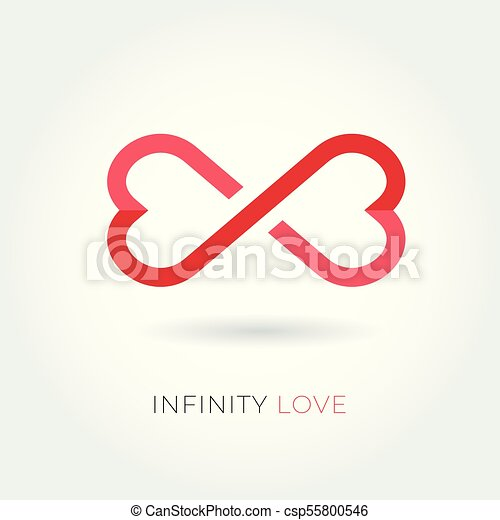 Infinity love logo. Valentine and relationship vector icon. - csp55800546